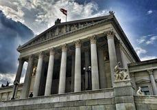 Il Parlamento dell'Austria fotografie stock libere da diritti