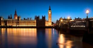 Il Parlamento dell'Inghilterra Fotografia Stock Libera da Diritti