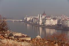 Il Parlamento dell'Ungheria Fotografia Stock Libera da Diritti