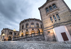Il Parlamento della Norvegia Fotografia Stock