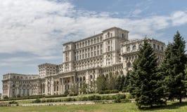 Il Parlamento di Bucarest Fotografie Stock Libere da Diritti