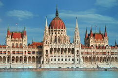 Il Parlamento di Budapest Fotografia Stock