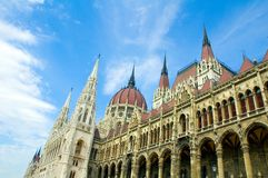 Il Parlamento di Budapest che costruisce 2 Fotografie Stock Libere da Diritti