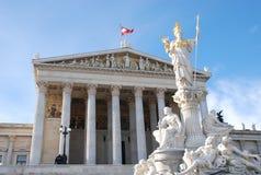 Il Parlamento di Vienna Fotografia Stock