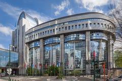Il Parlamento Europeo, Bruxelles fotografia stock libera da diritti