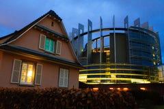 Il Parlamento Europeo Strasburgo Immagini Stock Libere da Diritti