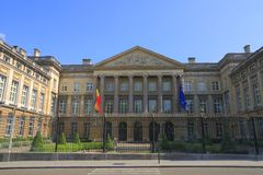 Il Parlamento federale belga Fotografie Stock