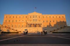 Il Parlamento greco a Atene Fotografia Stock Libera da Diritti