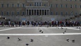Il Parlamento greco sul sintagma quadra stock footage