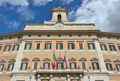 Il Parlamento italiano a Roma Fotografia Stock Libera da Diritti