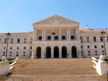 Il Parlamento a Lisbona fotografie stock