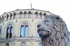Il Parlamento norvegese Immagini Stock