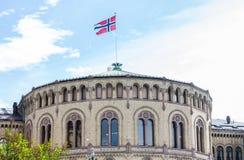 Il Parlamento norvegese Fotografia Stock