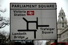 Il Parlamento quadra Fotografia Stock