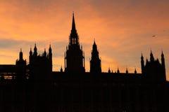 Il Parlamento Silouette Fotografia Stock
