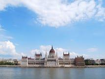 Il Parlamento ungherese - panorama Immagini Stock