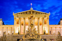 Il Parlamento, Vienna, Austria immagine stock