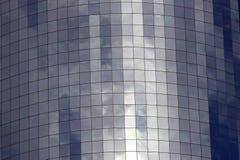 Il particolare di vetro ha fronteggiato la costruzione Immagini Stock