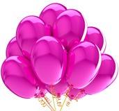 Il partito balloons il colore rosa colorato traslucido. Immagini Stock