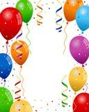Il partito Balloons il fondo Fotografie Stock Libere da Diritti