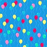 Il partito Balloons il vettore senza giunte del reticolo di ripetizione royalty illustrazione gratis