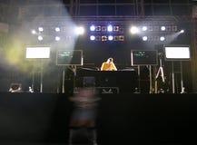 Il partito del deejay @ Fotografia Stock