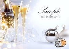 Il partito del nuovo anno o di Art Christmas invita Immagine Stock