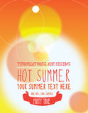 Il partito dell'estate invita o manifesto Fotografia Stock