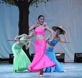 Il partito di concerto di graduazione della classe di dancing di Shao Duoli-2011 di nazionalità di DAI Fotografia Stock Libera da Diritti