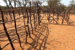 Il pascolo recinta la Namibia fotografia stock