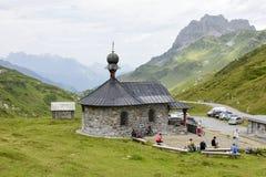 Il passaggio di Chiusa sulle alpi svizzere Fotografia Stock Libera da Diritti