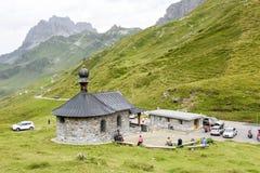 Il passaggio di Chiusa sulle alpi svizzere Fotografia Stock
