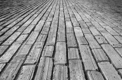 Il passaggio pedonale del mattone Fotografia Stock Libera da Diritti