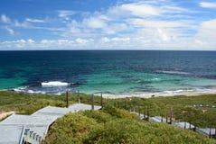 Il passaggio pedonale scenico Isola del pinguino Parco marino delle isole di Shoalwater Rockingham Australia occidentale Fotografie Stock