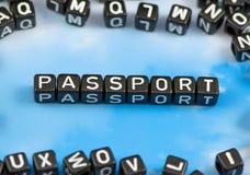 Il passaporto di parola fotografia stock