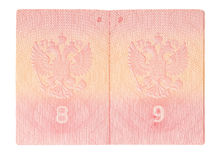 Il passaporto russo Fotografia Stock