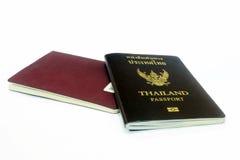 Il passaporto sui precedenti bianchi Fotografia Stock