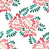 Il pastello ha colorato i fiori della peonia e le foglie stilizzati modello senza cuciture, vettore Fotografia Stock