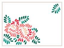 Il pastello ha colorato il mazzo stilizzato delle foglie e dei fiori, vettore Immagine Stock