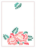 Il pastello ha colorato il mazzo stilizzato delle foglie e dei fiori, vettore Immagine Stock Libera da Diritti