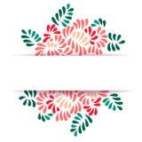 Il pastello ha colorato il modello stilizzato della cartolina d'auguri del mazzo dei fiori e delle foglie della peonia, vettore Fotografia Stock Libera da Diritti