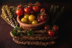 Il pasto semplice tradizionale ha installato con carne e le verdure Immagini Stock