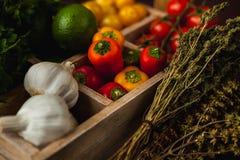 Il pasto semplice tradizionale ha installato con carne e le verdure Immagine Stock