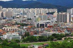 """Il patrimonio mondiale dell'Unesco della Corea colloca fortezza di Hwaseong del †""""e città di Suwon Fotografia Stock"""