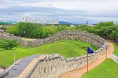 """Il patrimonio mondiale dell'Unesco della Corea colloca fortezza di Hwaseong del †""""e città di Suwon Fotografia Stock Libera da Diritti"""