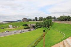 """Il patrimonio mondiale dell'Unesco della Corea colloca fortezza di Hwaseong del †""""e città di Suwon Fotografie Stock Libere da Diritti"""