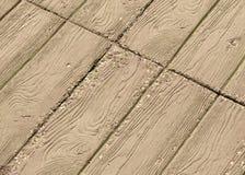 Il pavimento è coperto di stecche di legno Immagini Stock Libere da Diritti