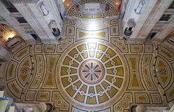 Il pavimento del panteon nazionale decorato con il picchiettio polychromed fotografia stock libera da diritti