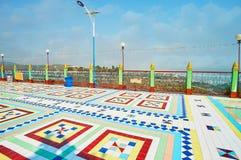 Il pavimento non tappezzato ornamentale nella pagoda della sommità, Sagaing fotografie stock libere da diritti