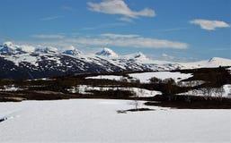 Il peccato Norvegia della cima dell'più alta montagna Immagine Stock